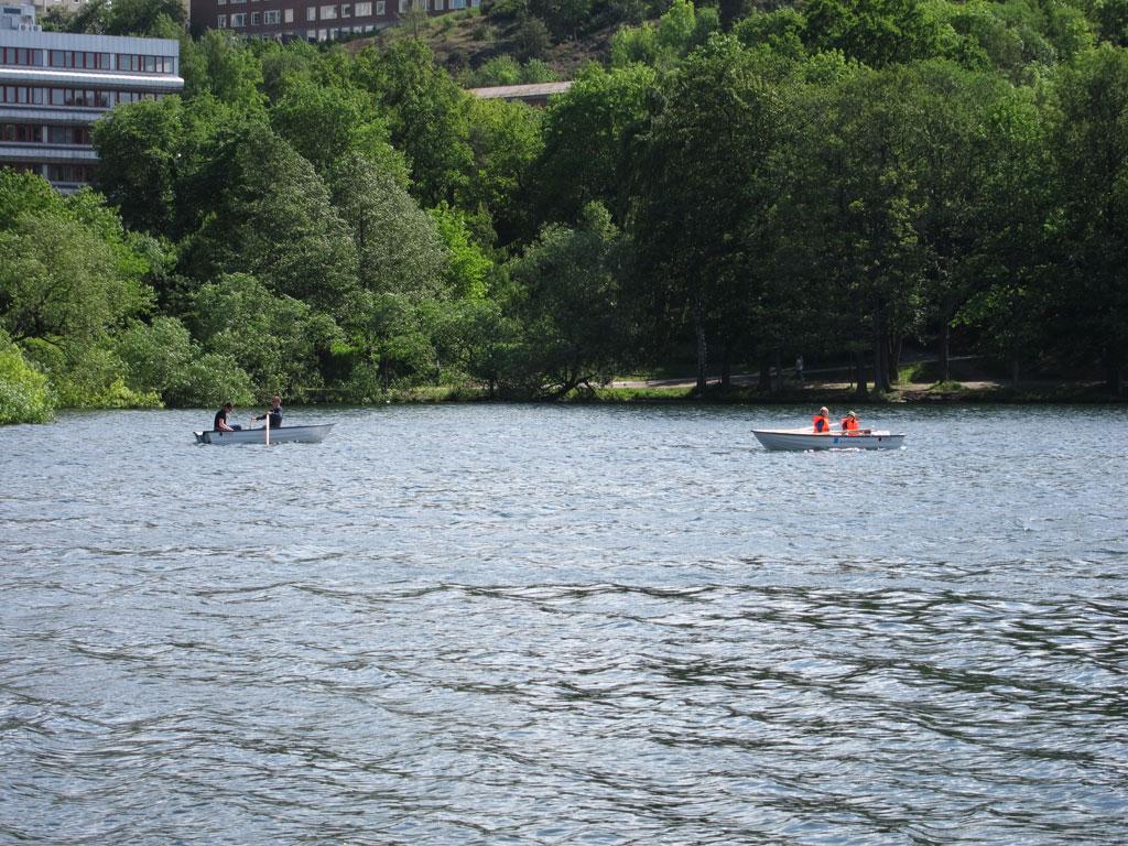 Båtar ute på Trekanten